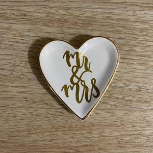 Heart Shaped Wedding Trinket Dish